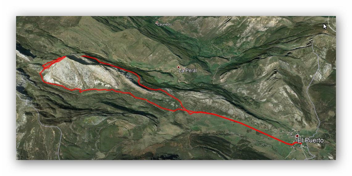 16 septiembre, 2018: Peña Penouta (Somiedo) (Google Earth)