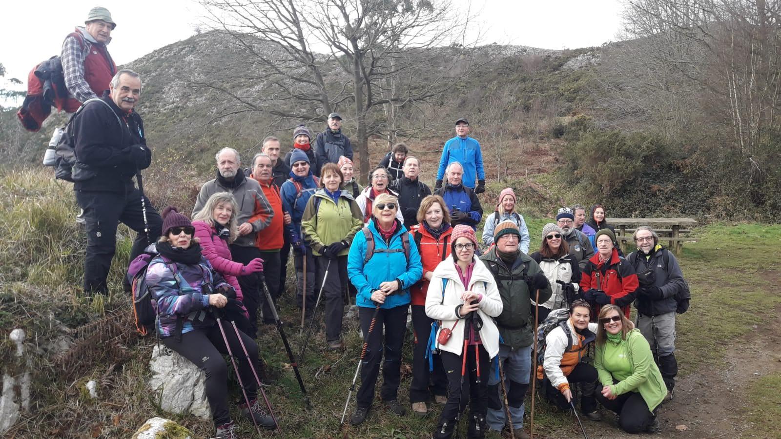 13 enero, 2019: Oviedo - Covadonga, 1ª etapa (Oviedo - Bendición) (Foto grupo)