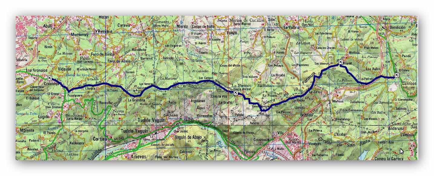 13 enero, 2019: Oviedo - Covadonga, 1ª etapa (Oviedo - Bendición) (Wikiloc / IGN)