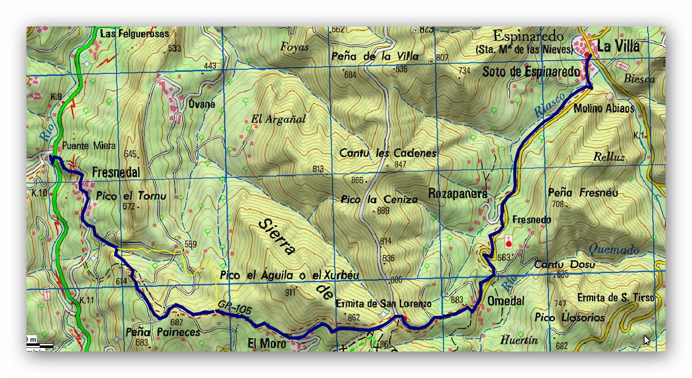 24 marzo, 2019: Oviedo - Covadonga, 4ª etapa (Wikiloc / IGN)