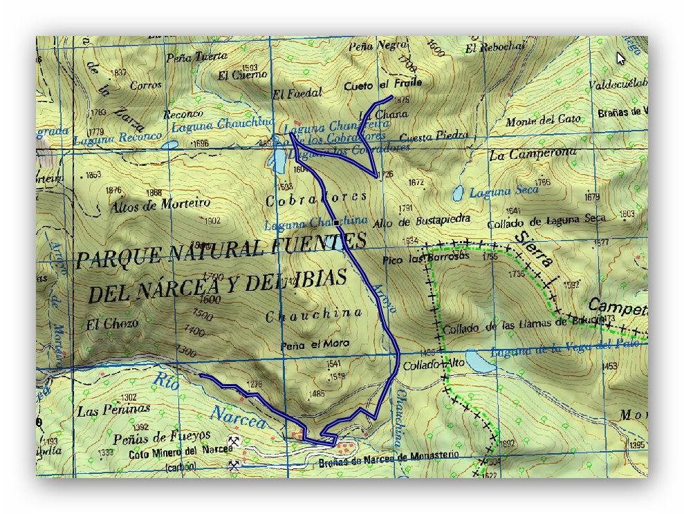 12 mayo, 2019: Monasterio de Hermo - Cueto el Fraile (Wikiloc / IGN)