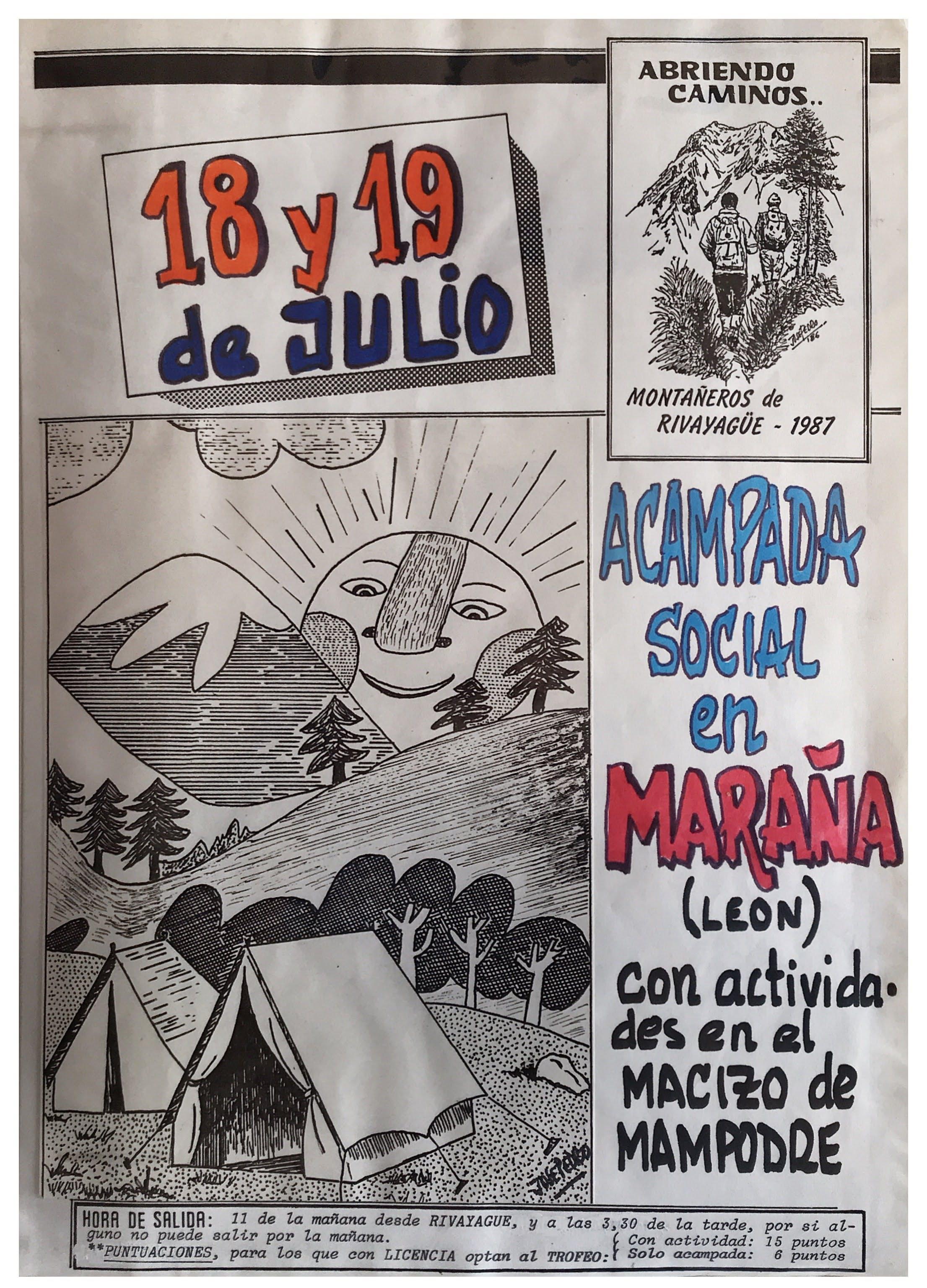 18 y 19 julio, 1987: Acampada social en Maraña (León)