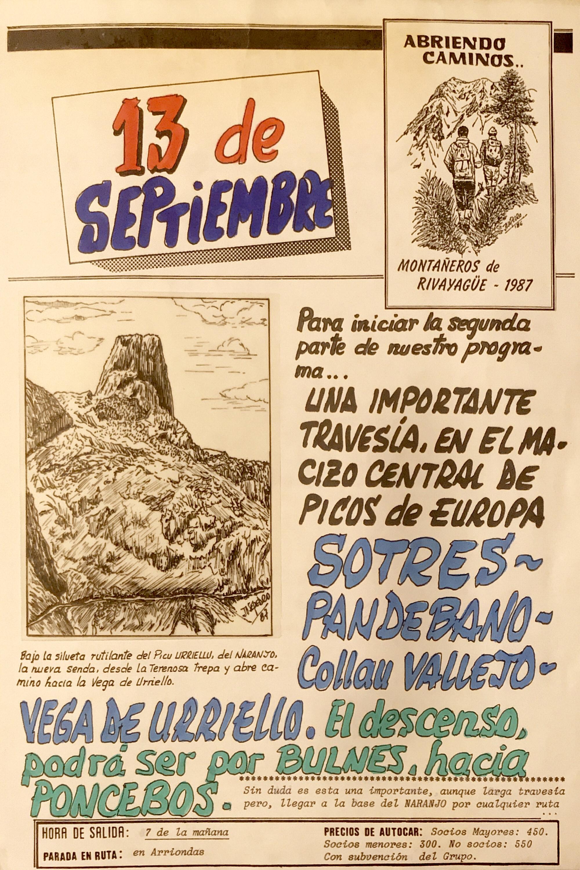 13 septiembre, 1987: Sotres - Pandébano - Collau Vallejo - Vega de Urriello