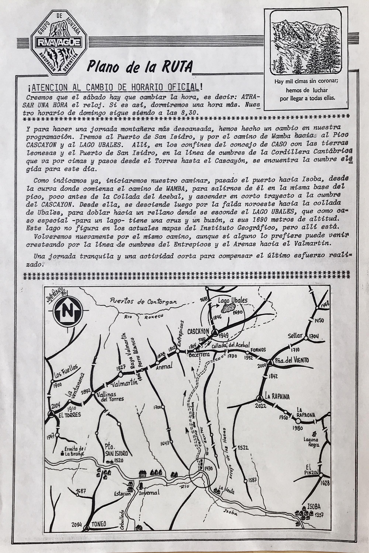 27 septiembre, 1987: Pico Cascayón y Lago Ubales