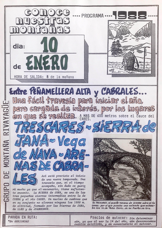 10 enero, 1988: Trescares - Sierra de Jana - Vega de Nava - Arenas de Cabrales