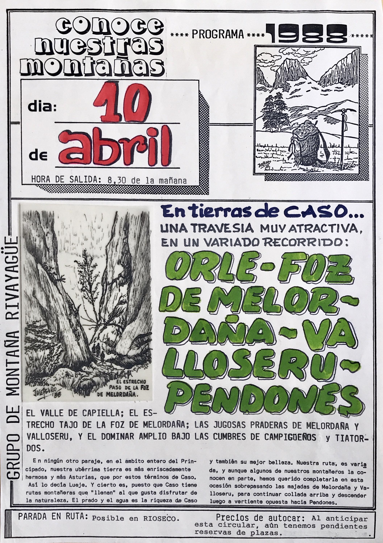10 abril, 1988: Travesía Orlé - Pendones