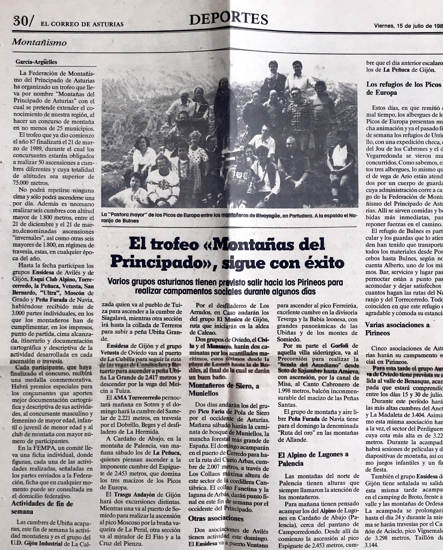 29 mayo, 1988: Travesía Tielve - Portudera - Arenas de Cabrales