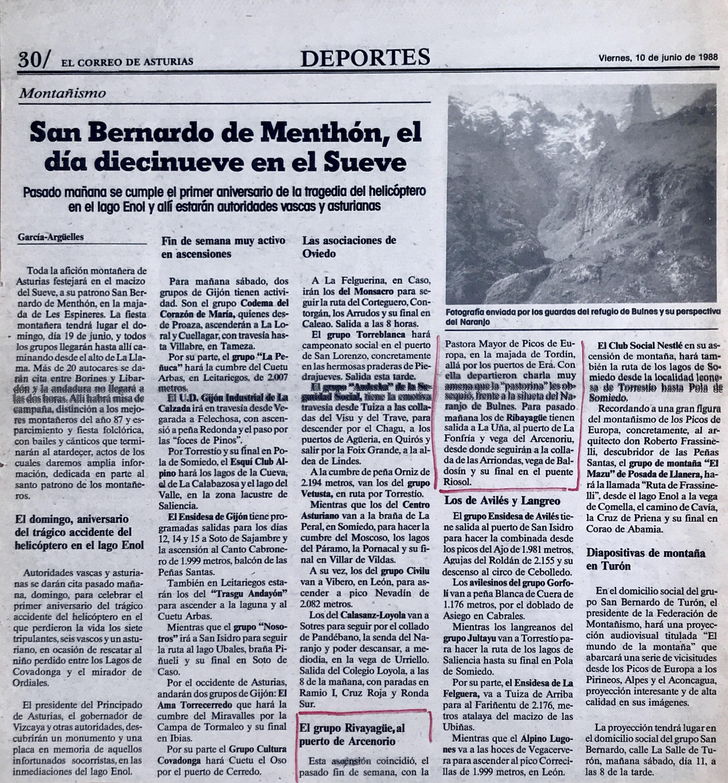 12 junio, 1988: Puerto del Arcenorio