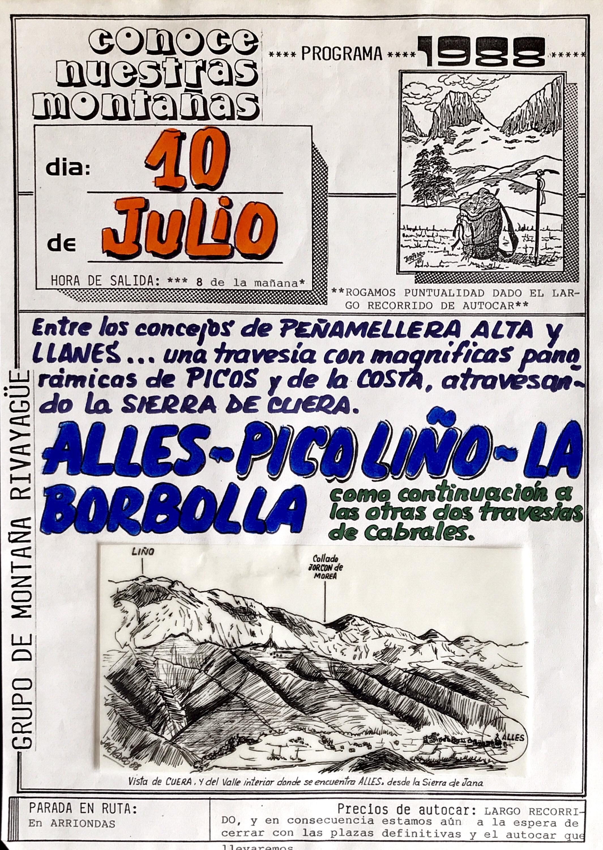 10 julio, 1988: Pico Liño