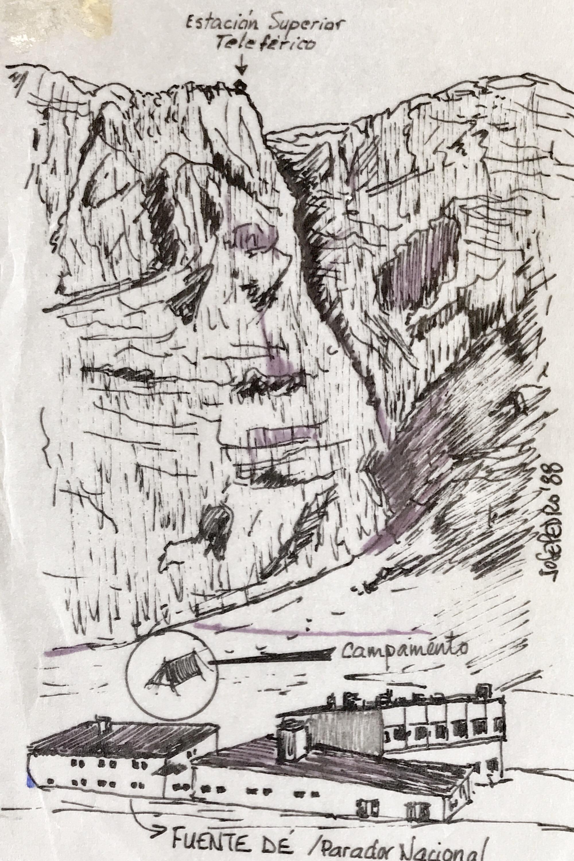 23,24,25 julio, 1988: Acampada en Fuente Dé