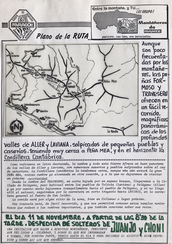 6 noviembre, 1988: Peñas del Traveseru