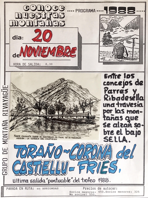 20 noviembre, 1988: Corona del Castiellu