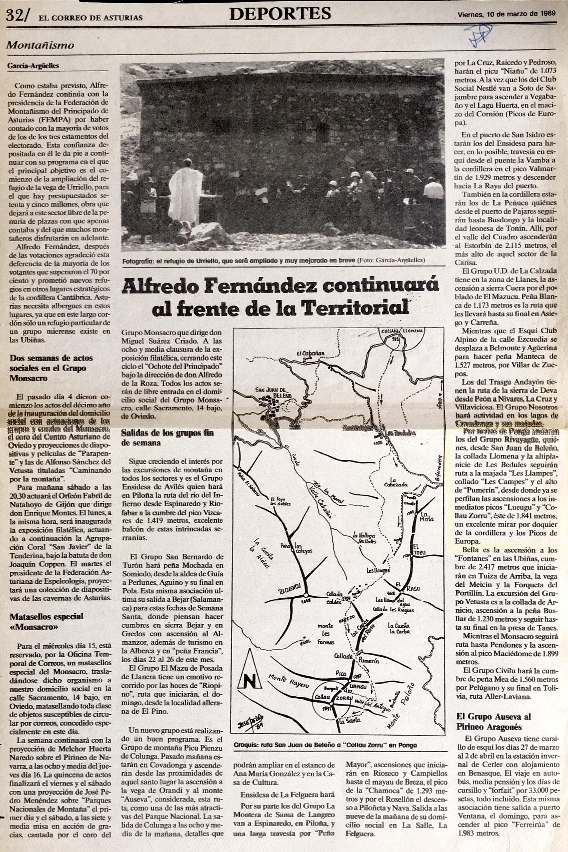 12 marzo, 1989: Collau Zorro