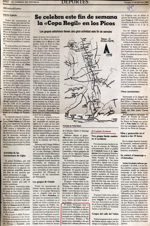 16 abril, 1989: Cordal de Peña Mayor