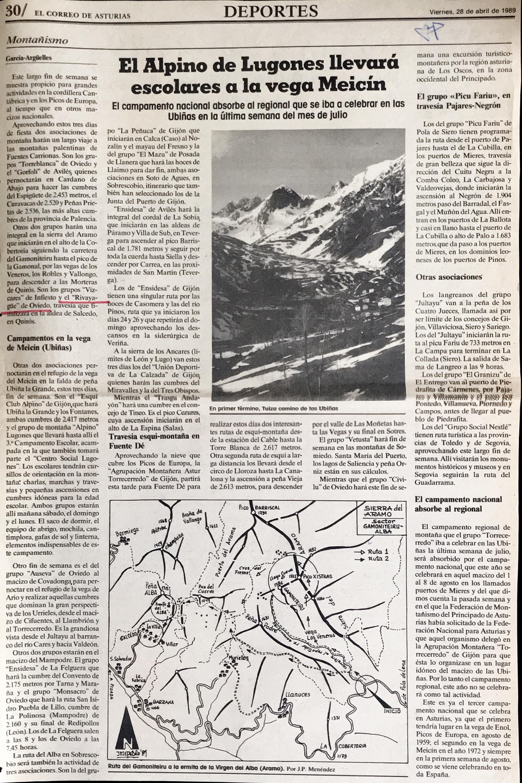 30 abril, 1989: Pico Xistras o Peña Podre