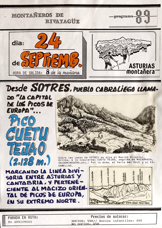 24 septiembre, 1989: Pico Cuetu Tejao