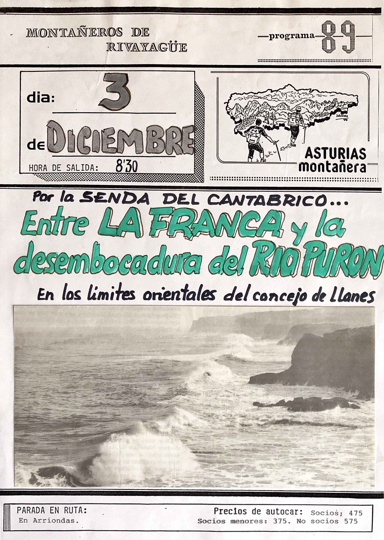 3 diciembre, 1989: Ruta costera