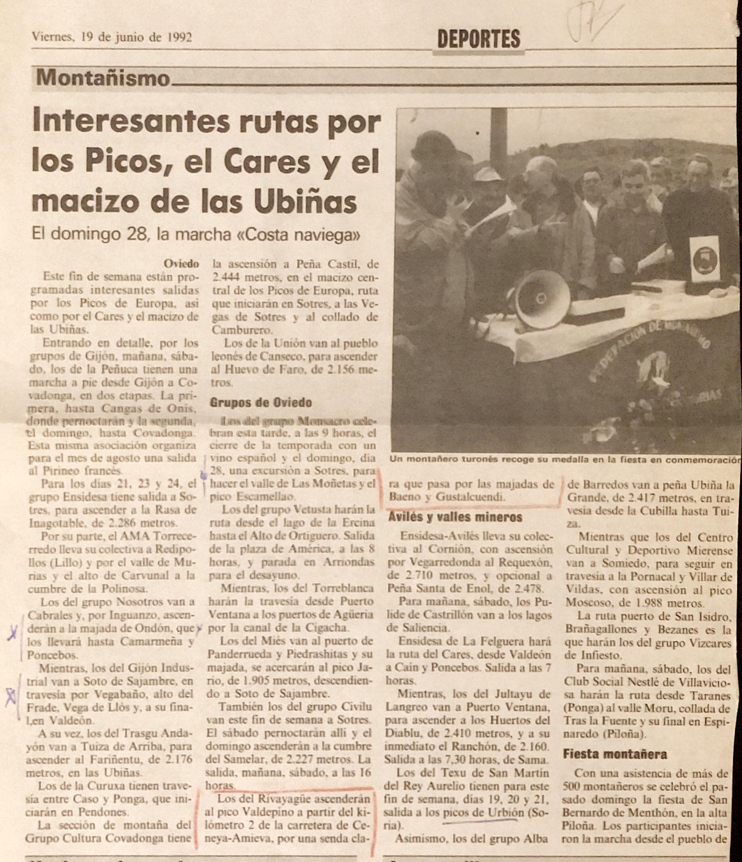 21 junio, 1992: Pico Valdepino