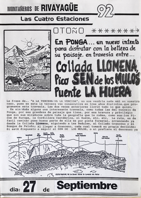 27 septiembre, 1992: Pico Sen de los Mulos