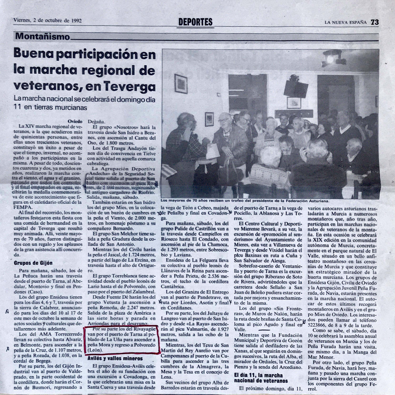 4 octubre, 1992: Peña Mora