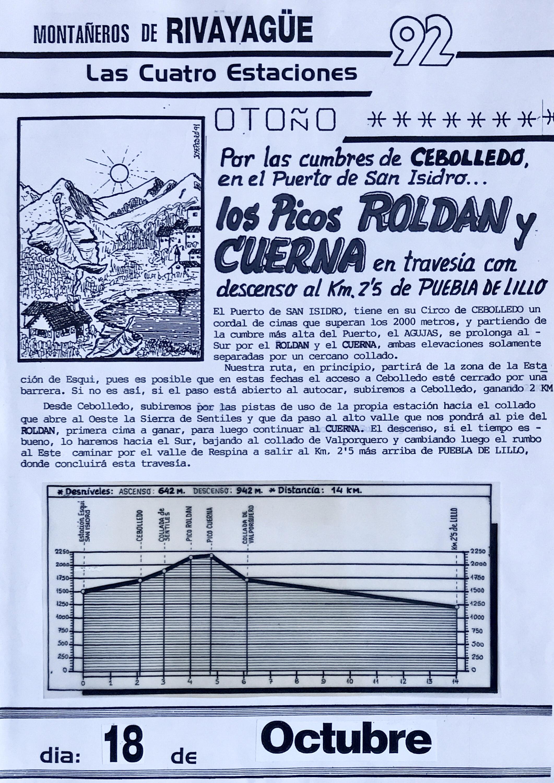 18 octubre, 1992: Picos Roldán y Cuerna