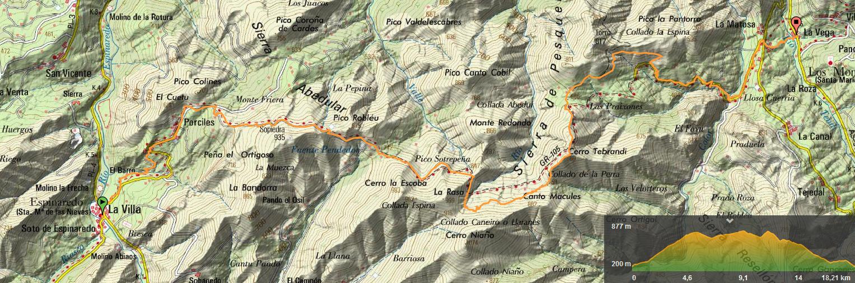 27 abril, 2019: Oviedo-Covadonga, 5ª etapa (Espinaredo - La Matosa) (Wikiloc / IGN)