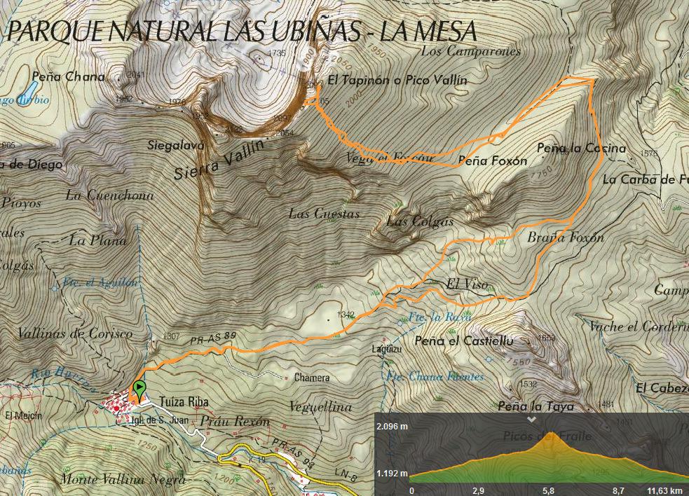 13 octubre, 2019: Tuiza de Arriba - Tapinón (Wikiloc / IGN)