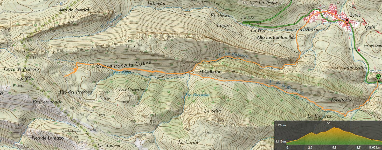 24 noviembre, 2019: Pico Pedroso (Wikiloc / IGN)
