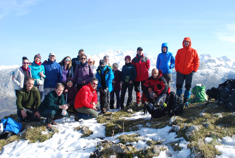 26 enero, 2020: Pico Carriá - Foto de grupo