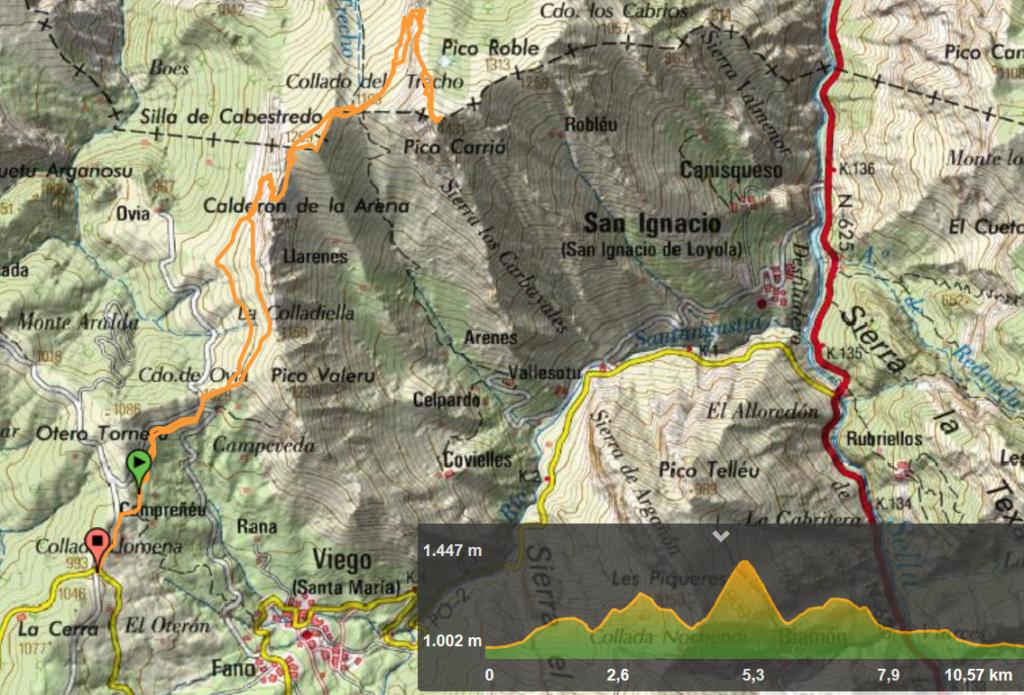 26 enero, 2020: Collada Llomena - Pico Carriá (Wikiloc / IGN)
